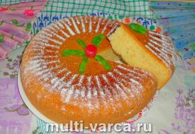 Бисквитный кекс в мультиварке