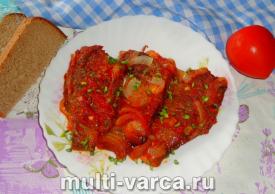 Караси тушеные в томатной пасте в мультиварке