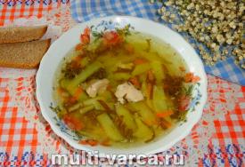 Щавелевый суп с курицей в мультиварке