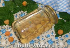 Компот из желтой малины