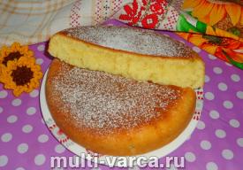 Пирог с ревенем на кефире в мультиварке