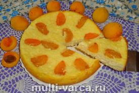 Творожная запеканка с абрикосами в мультиварке