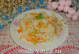 Рис со стручковой фасолью в мультиварке