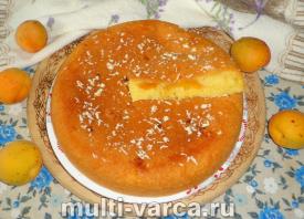 Кекс с абрикосами в мультиварке
