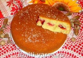 Как приготовить вкусный пирог на кефире со сливами в мультиварке