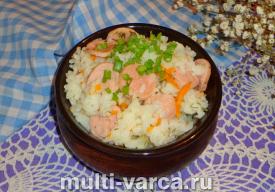 Как приготовить вкусный рис с сосисками в мультиварке