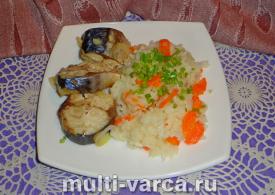 Скумбрия с рисом в мультиварке