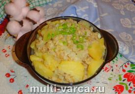 Картошка с перловкой в мультиварке