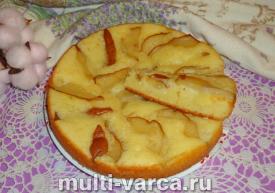 Пирог с грушей и творогом в мультиварке