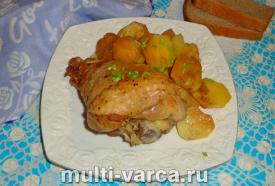 Голень индейки с картошкой в мультиварке