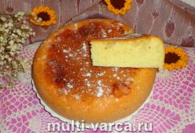 Бисквит с ананасами в мультиварке