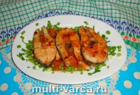 Щука в томатном соусе в мультиварке