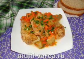 Курица с замороженными овощами в мультиварке