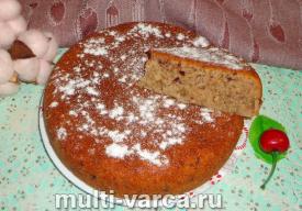 Пирог с вишневым вареньем в мультиварке