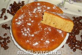 Быстрый кофейный пирог на кефире в мультиварке