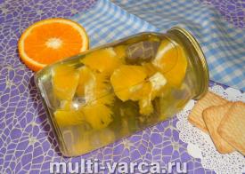 Компот с мятой и апельсином на зиму