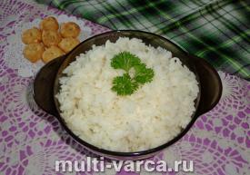 Рис с чесноком в мультиварке