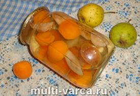 Компот из груш и абрикосов на зиму
