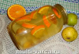 Компот из груш и апельсинов на зиму