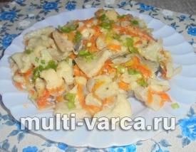 Как приготовить карпа тушеного в мультиварке с овощами в сметане