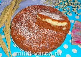 Творожно-шоколадный пирог в мультиварке