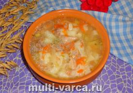 Суп-лапша с курицей в мультиварке