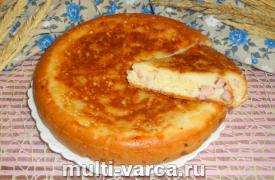 Пирог с колбасой в мультиварке