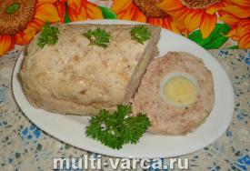 Мясной рулет с яйцом в мультиварке