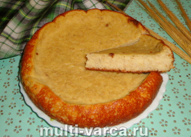 Диетический пирог в мультиварке