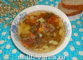 Щавелевый суп с говядиной в мультиварке