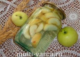 Компот из яблок Белый налив на зиму