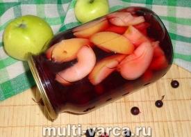 Компот из яблок и смородины на зиму