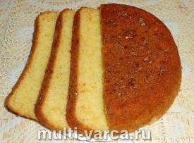 Бисквит на йогурте в мультиварке