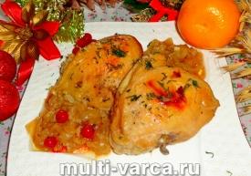 Как приготовить запеченную курицу в рукаве в духовке в маринаде из красной смородины