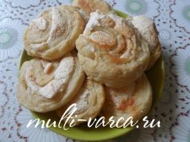 Печенье из творога с безе в мультиварке