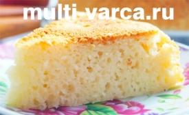 Бисквит в мультиварке со сгущенкой