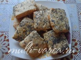 Сырное печенье с маком в мультиварке