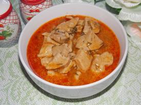 Свинина в томатно-сметанном соусе в мультиварке