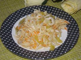 Маринованная капуста с болгарским перцем быстрого приготовления