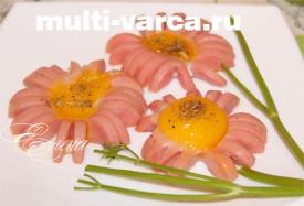 Жареные яйца в мультиварке