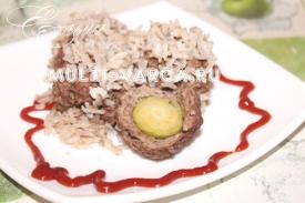 Ежики с рисом и фаршем в мультиварке