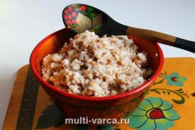 Гречка с рисом на молоке