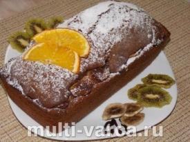 Шоколадно-банановый кекс в духовке