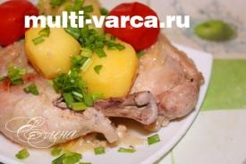 Курица в кефире в мультиварке, рецепт с фото