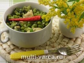 Овощное рагу с курицей в мультиварке