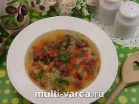 приготовить куриный суп с фасолью и овощами в мультиварке