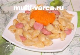 Как приготовить макароны с сосиской в мультиварке