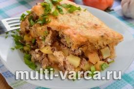 Мусака в мультиварке с фаршем и картофелем