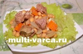 Нут с мясом в мультиварке