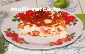 Омлет с помидорами в мультиварке
